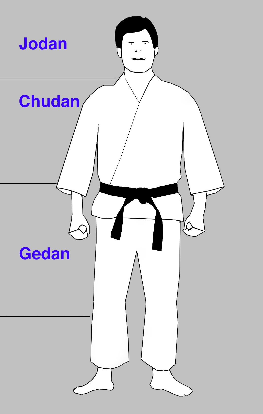 Karate: golpes de puño  JodanChudanGedan