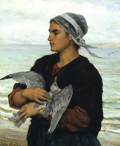 File:Jules Breton - The Wounded Sea Gull.jpg