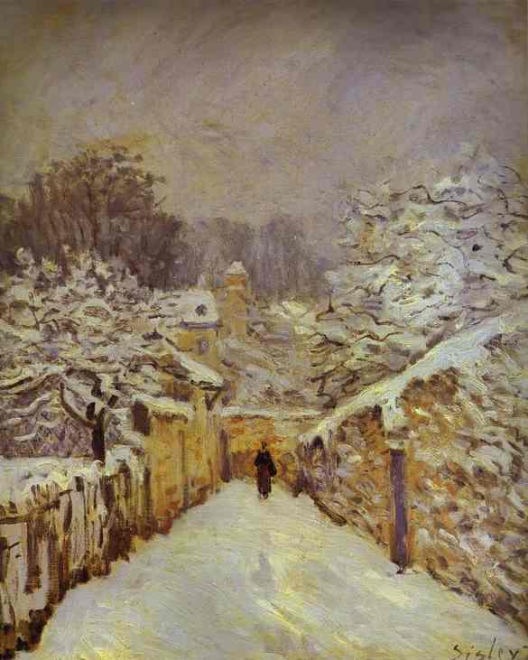 Neve a Louveciennes