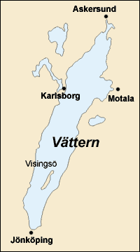 Visingsö in lake Vättern