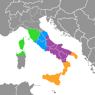Complex of the centro-southern Italian dialects.