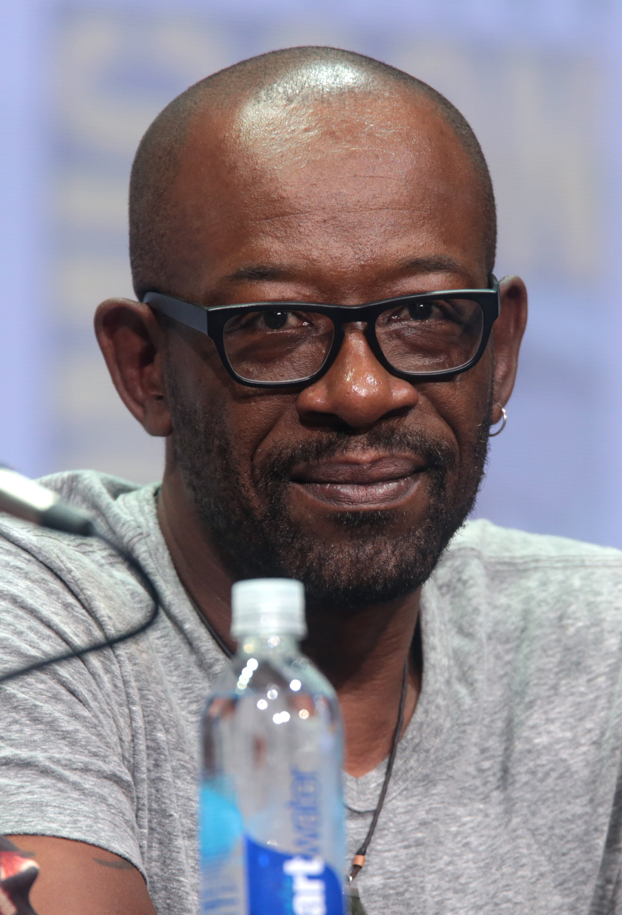 Den 52-år gammal, 176 cm lång Lennie James in 2018 photo