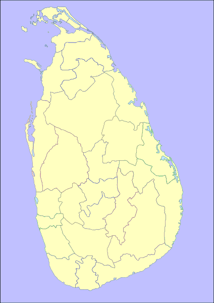 Images and Places, Pictures and Info: sri lanka map blank