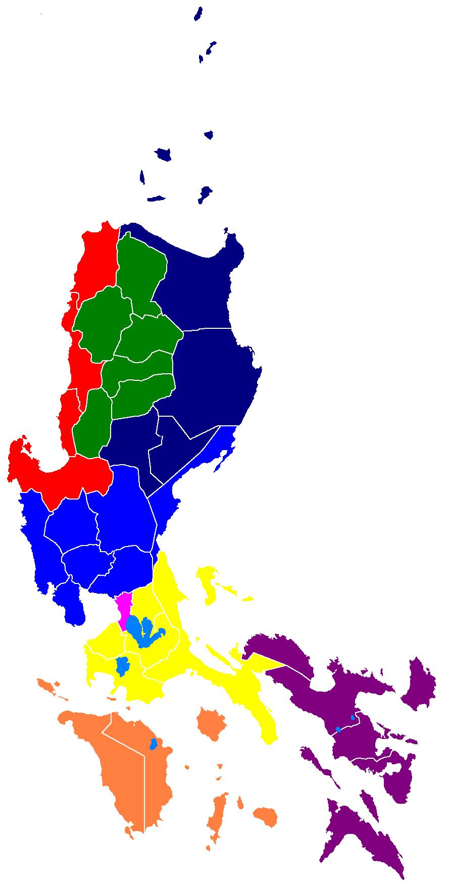 Philippine Map Luzon Provinces