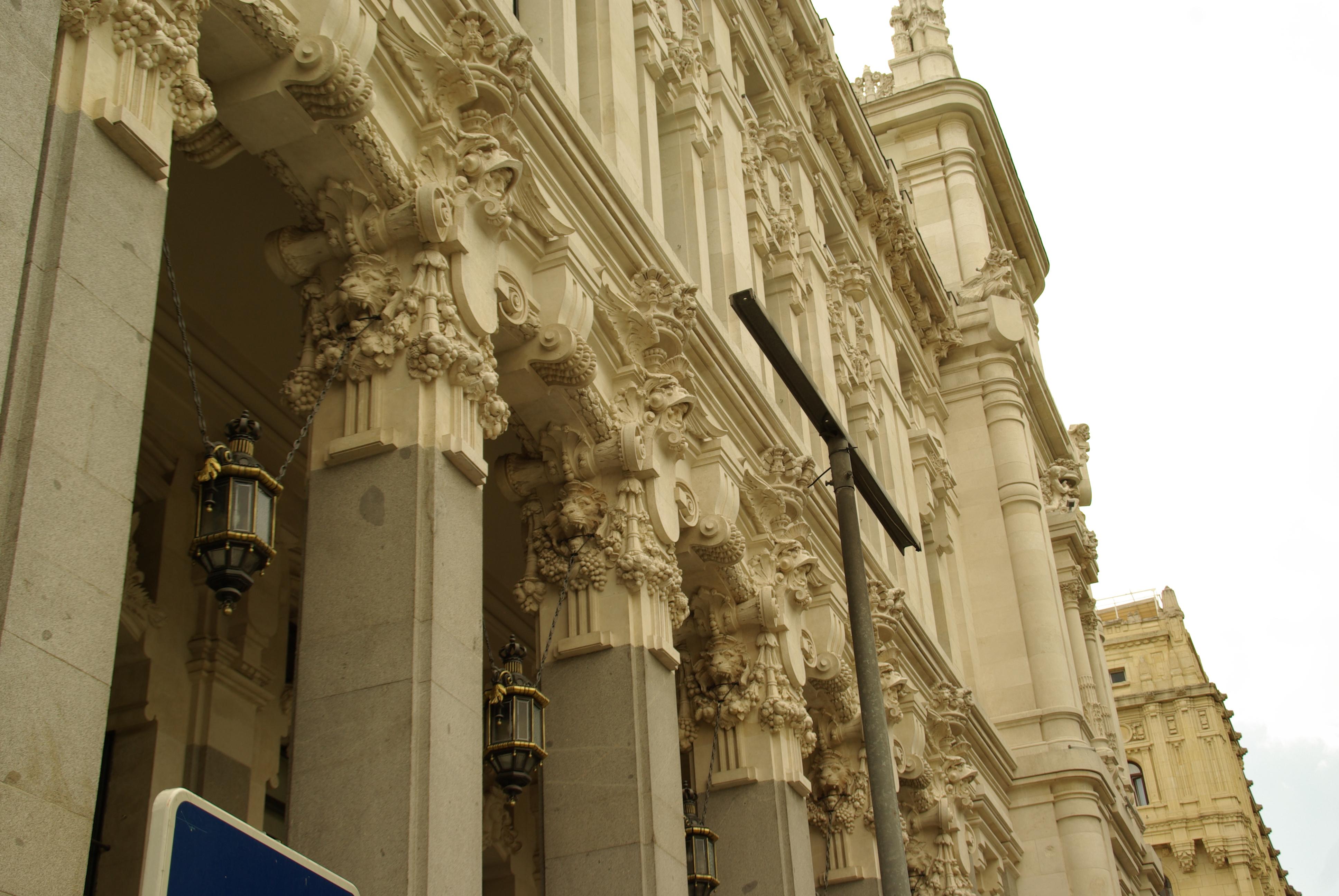 File Madrid Artectura Palacio Cibeles Fachada Lateral