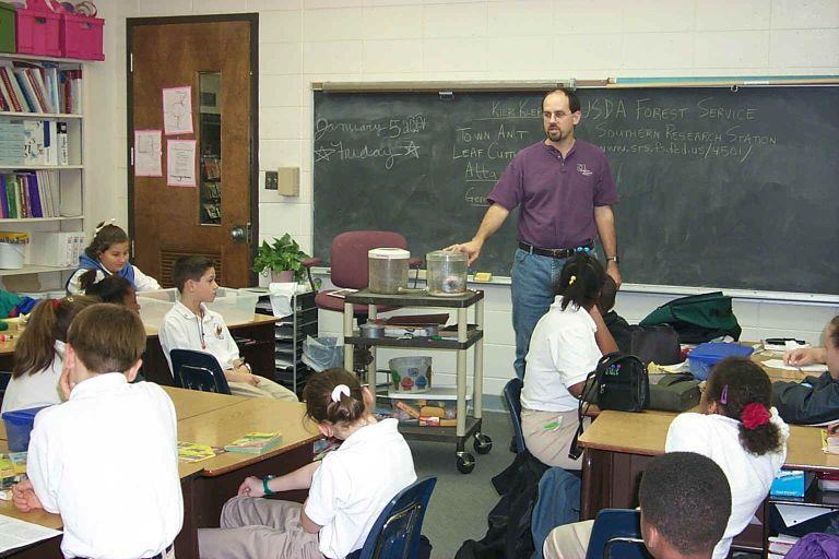 Science class at Phoenix Magnet School in Alexandria, LA