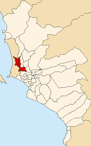 Location of San Martín de Porres in Lima
