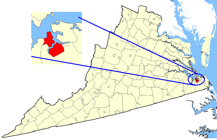 FileMap Showing Portsmouth City Virginiapng