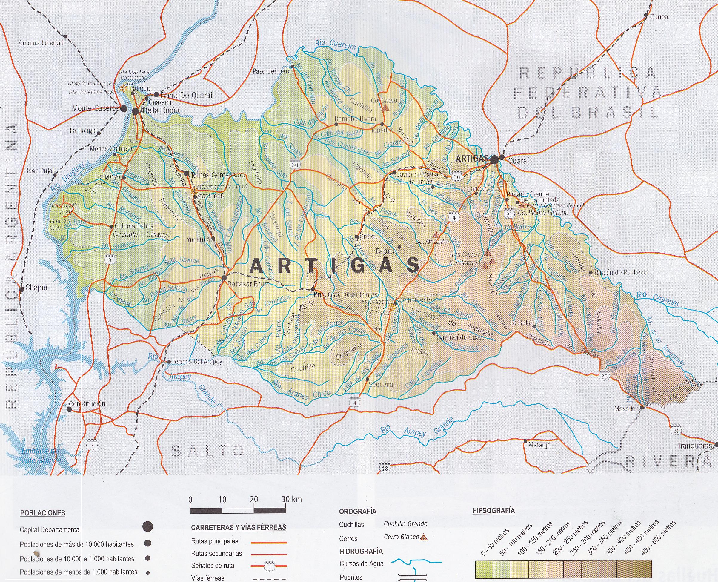 Artigas department wikipedia for Planos topograficos pdf
