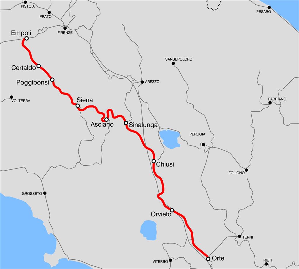 Cartina Ferroviaria Toscana.Ferrovia Centrale Toscana Wikipedia
