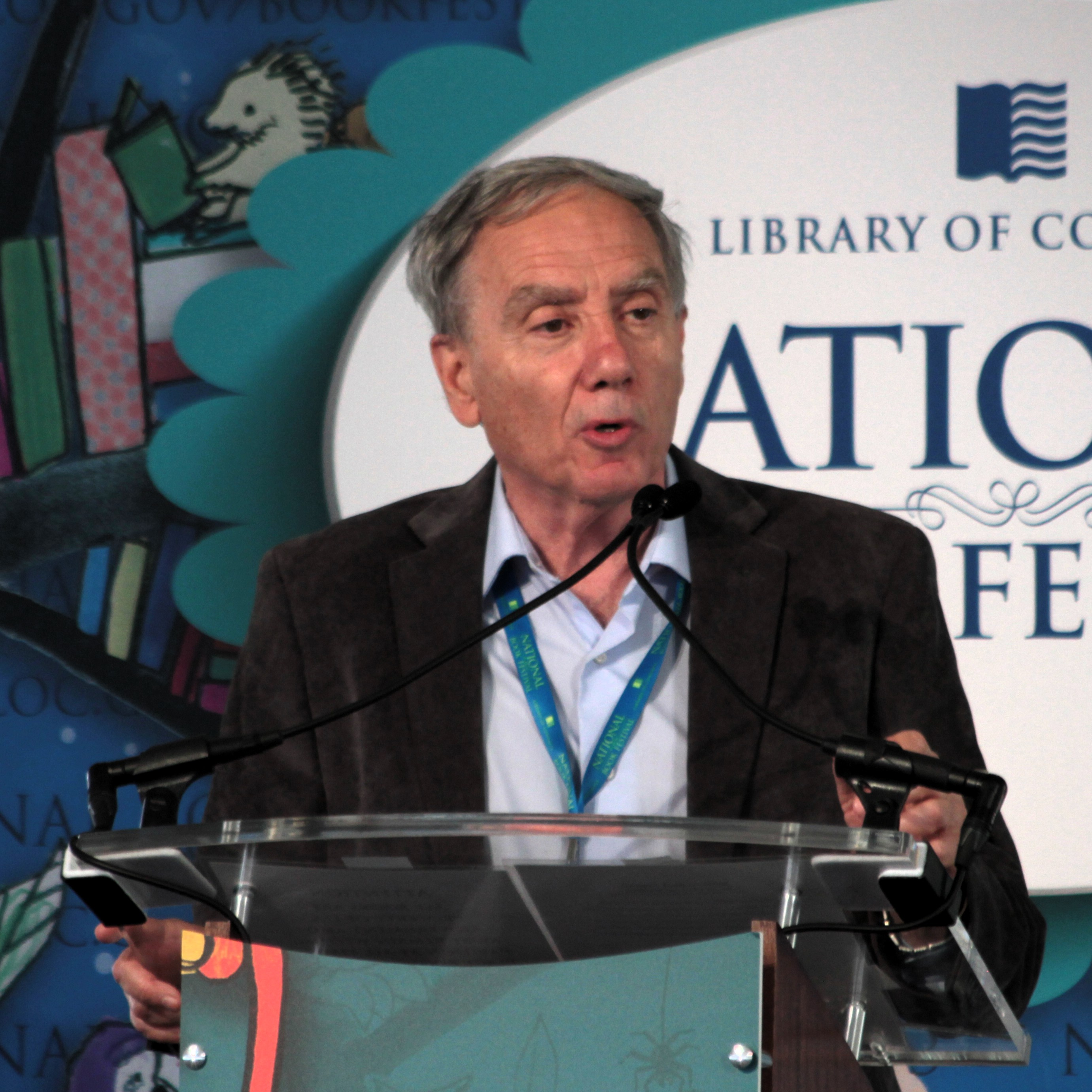 Speaking on 22 September 2013 on the [[National Mall]] in Washington, DC during the 2013 [[National Book Festival]]