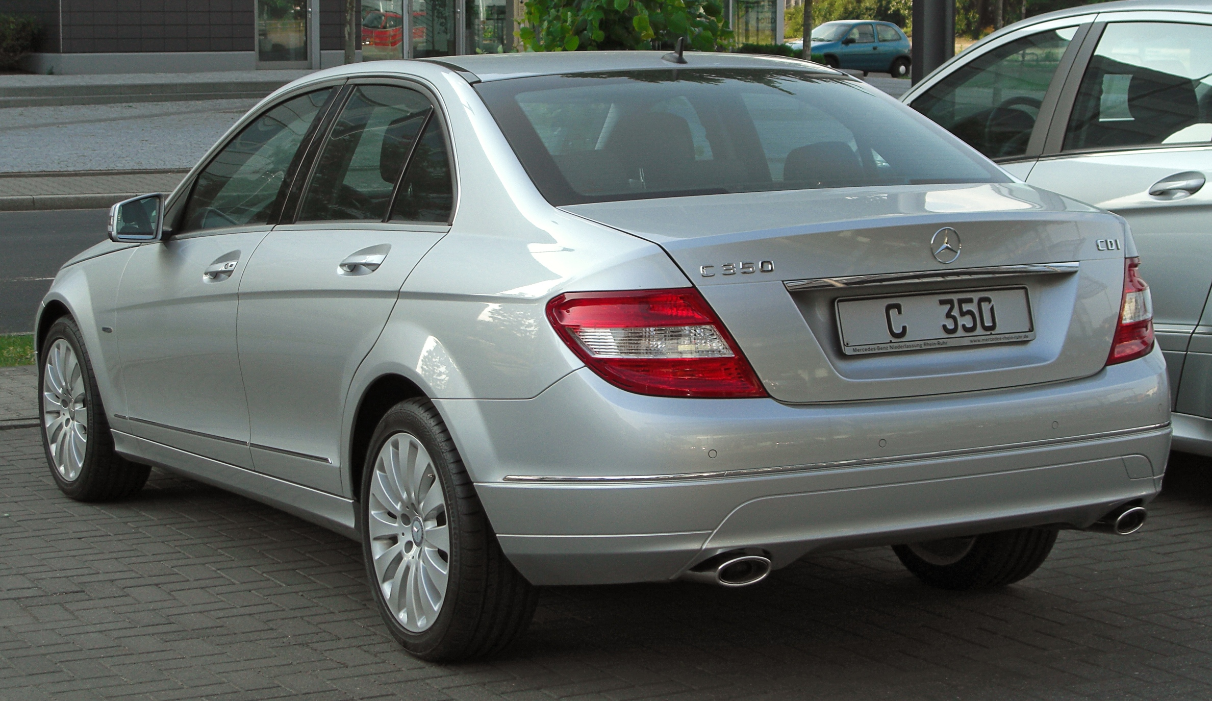 file mercedes c 350 cdi blueefficiency elegance w204 rear wikimedia commons. Black Bedroom Furniture Sets. Home Design Ideas