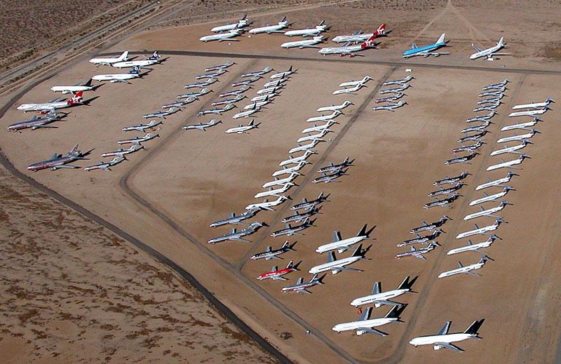 Cintoríny lietadiel: Čo sa stane, keď sú už lietadlá zastarané?