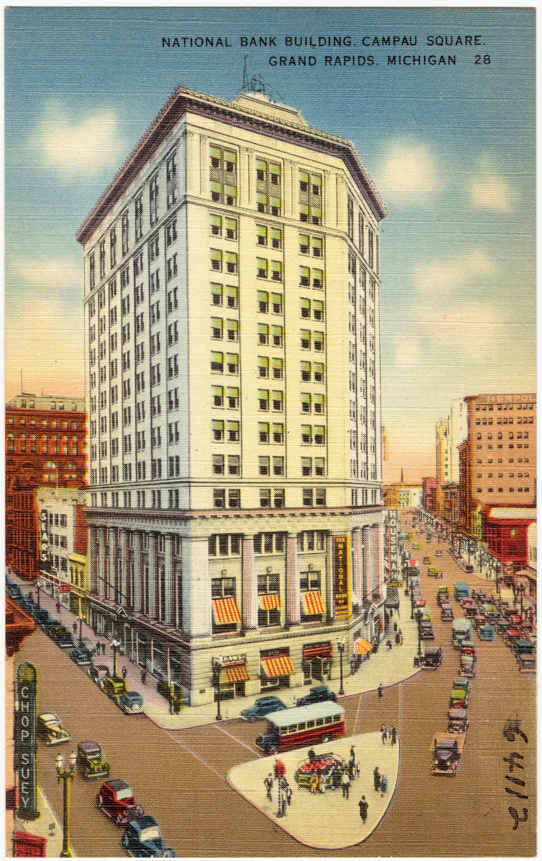 File National Bank Building Campau Square Grand Rapids