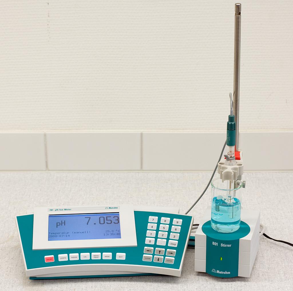A pH meter