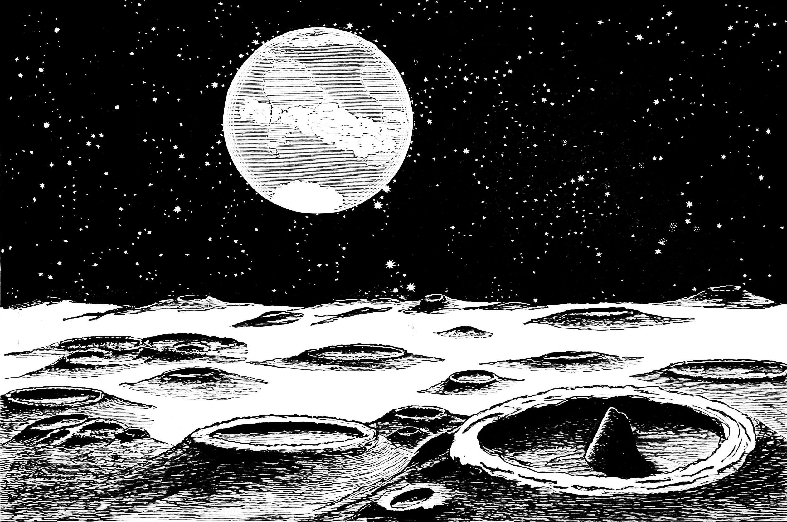 File Psm V03 D776 Lunar Landscape Jpg Wikimedia Commons
