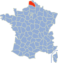 Map showing the location of Pas-de-Calais