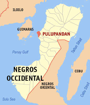 Map of Negros Occidental showing the location of Pulupandan