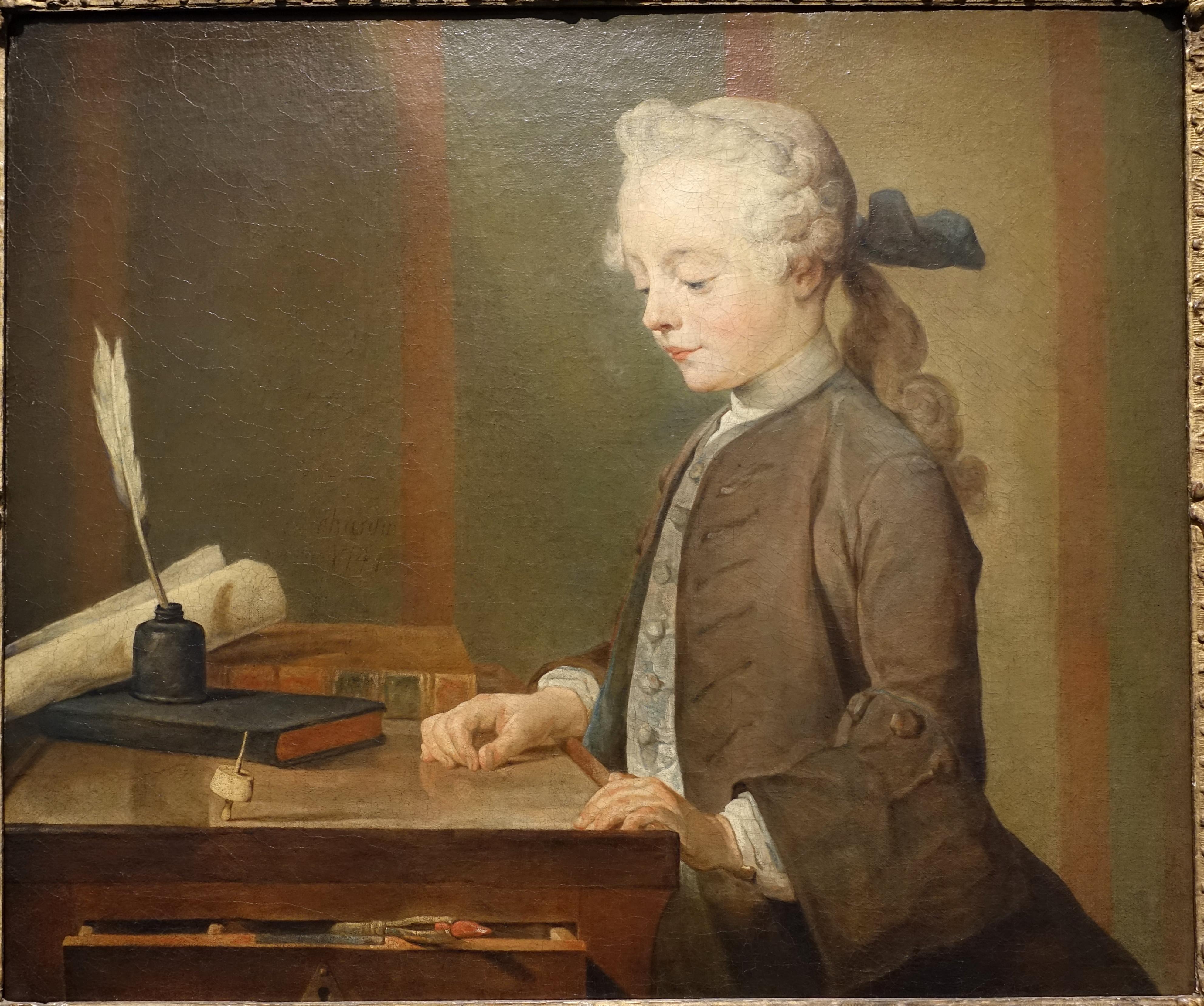 ''Portrait of Auguste Gabriel Godefroy'' (1741), by [[Jean-Baptiste-Siméon Chardin