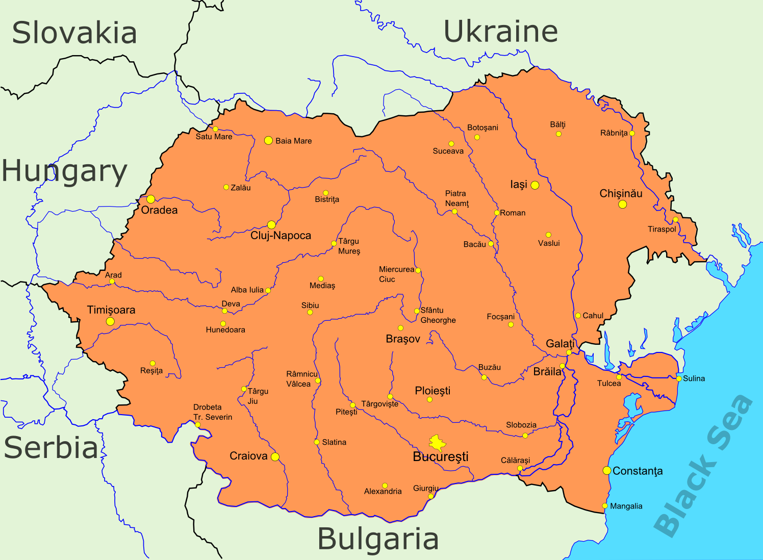 FilePotential Union Of Romania And Moldova Including Transnistria - Transnistria map