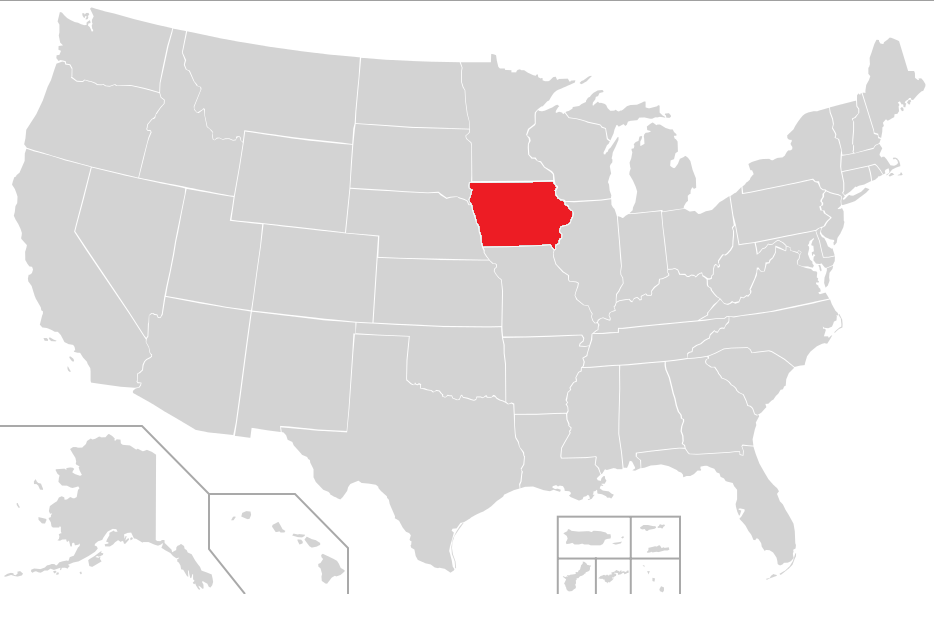 FileRed Locator Map Of Iowa In The United Statespng Wikimedia - Iowa on a us map