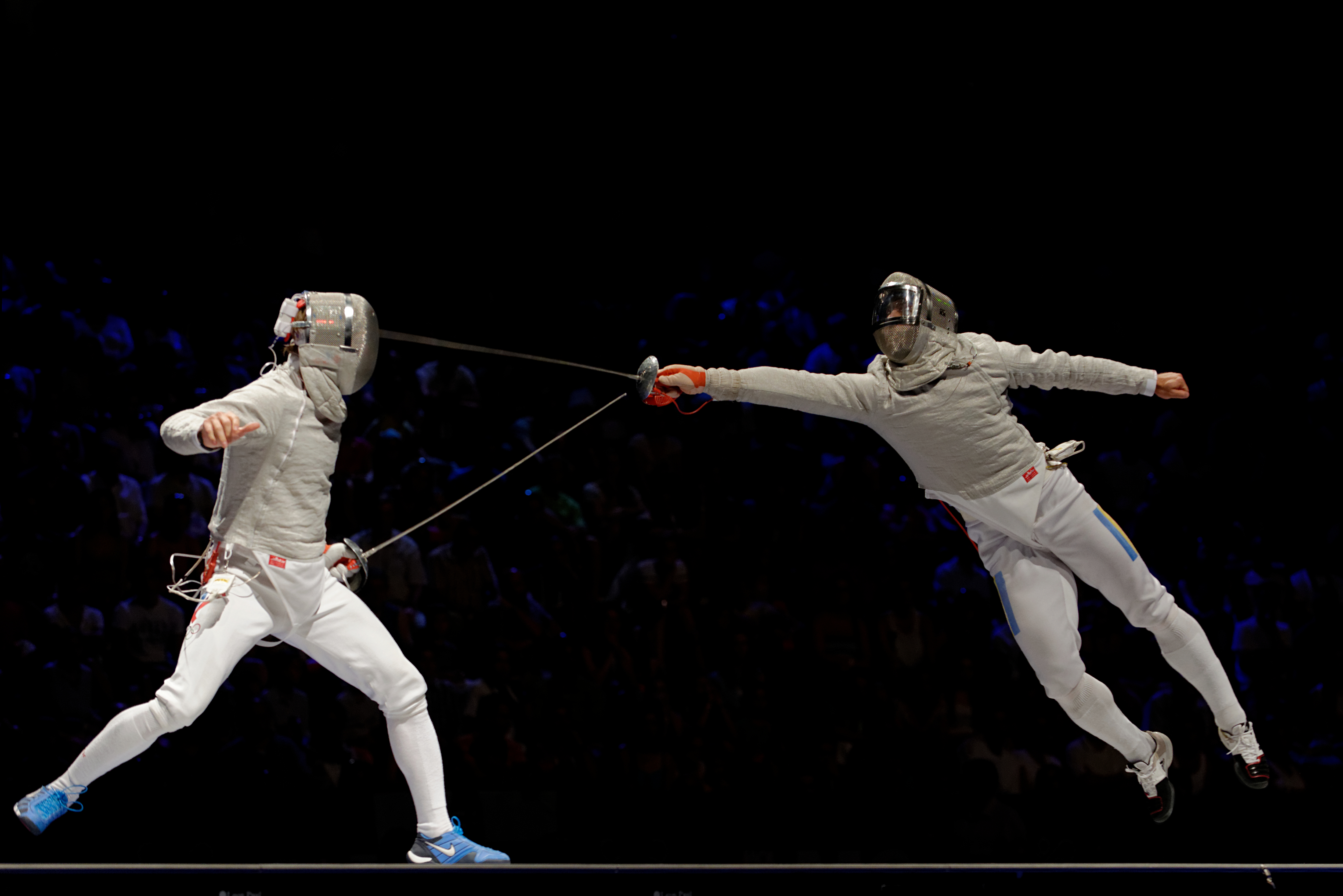 Sabre Fencing Exhibition Match with Aron Szilagyi | Yvanne Teo