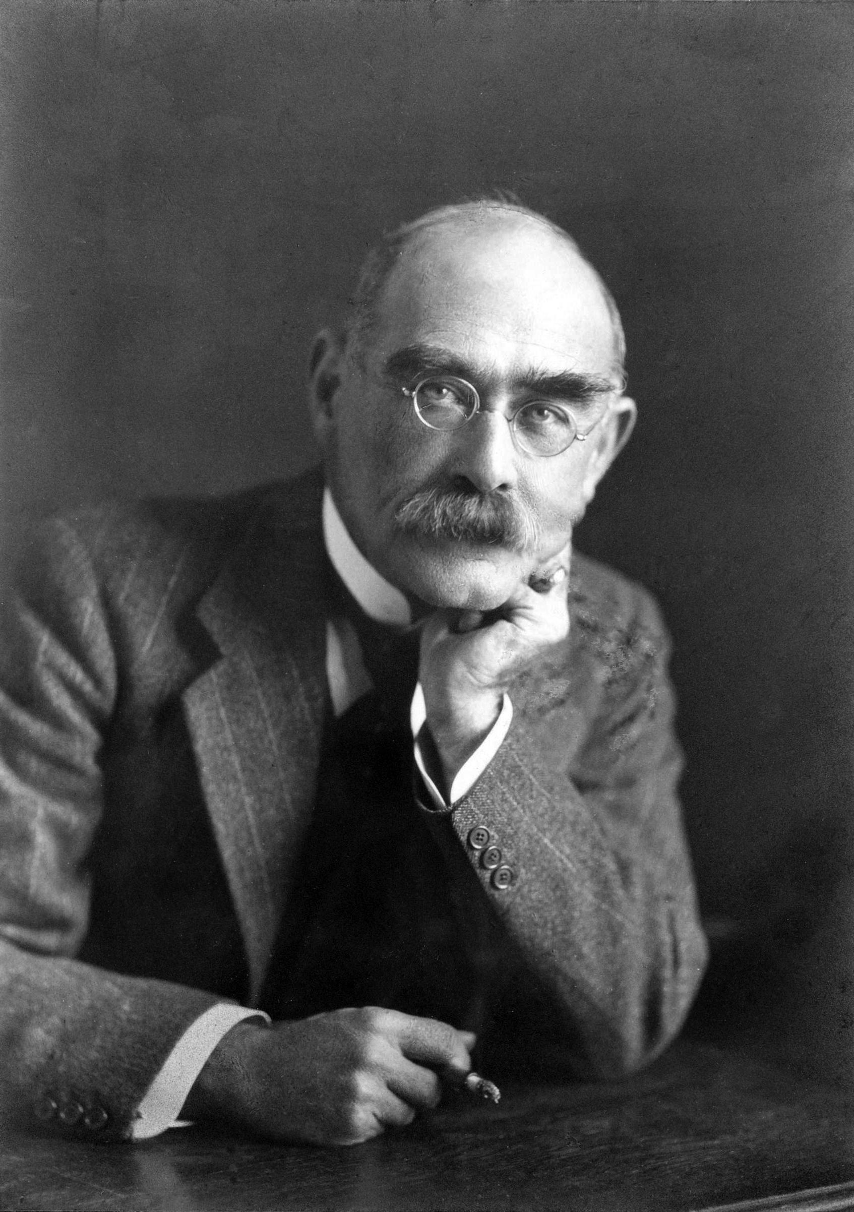 Depiction of Rudyard Kipling