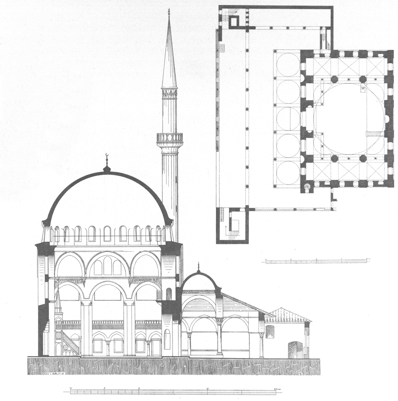 Plan Elevation Section Of Mosque : File rustem pasha mosque gurlitt g wikimedia commons