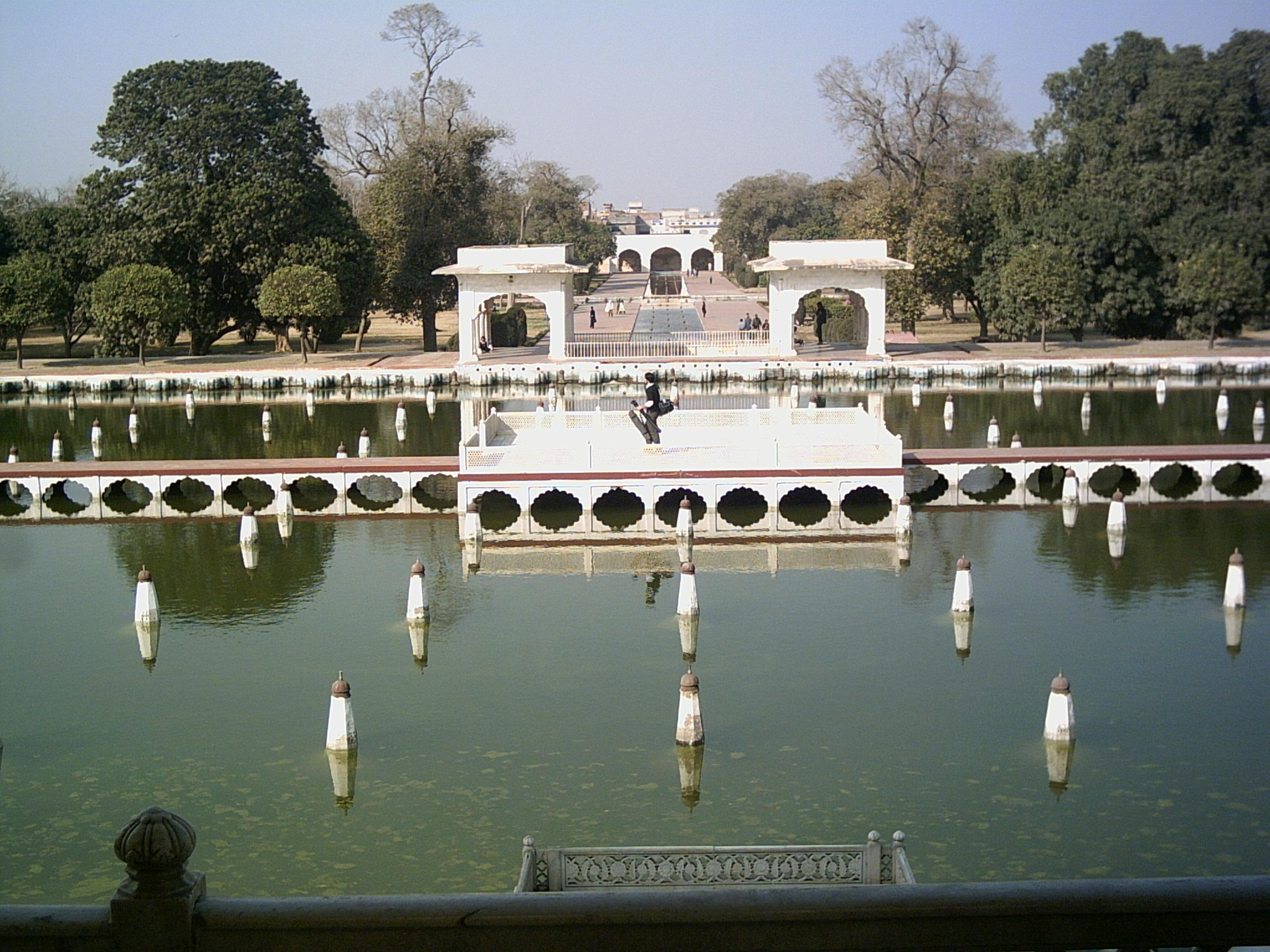 Shalimar Gardens, Lahore built by the Mughal emperor Aurangzeb.