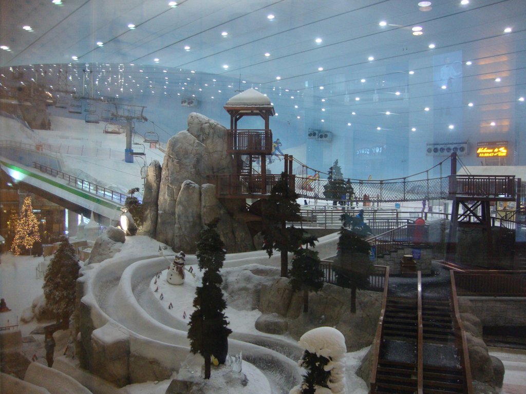 Ski slope in the Mall of the Emirates