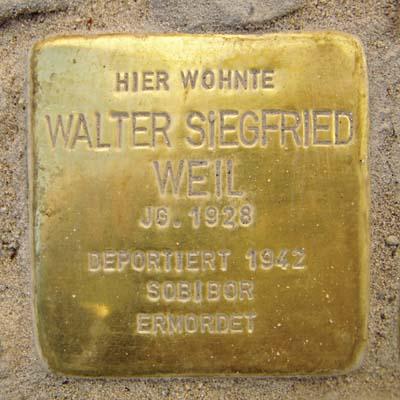 Stolperstein Am Berger Spielhaus 7 Walter Siegfried Weil