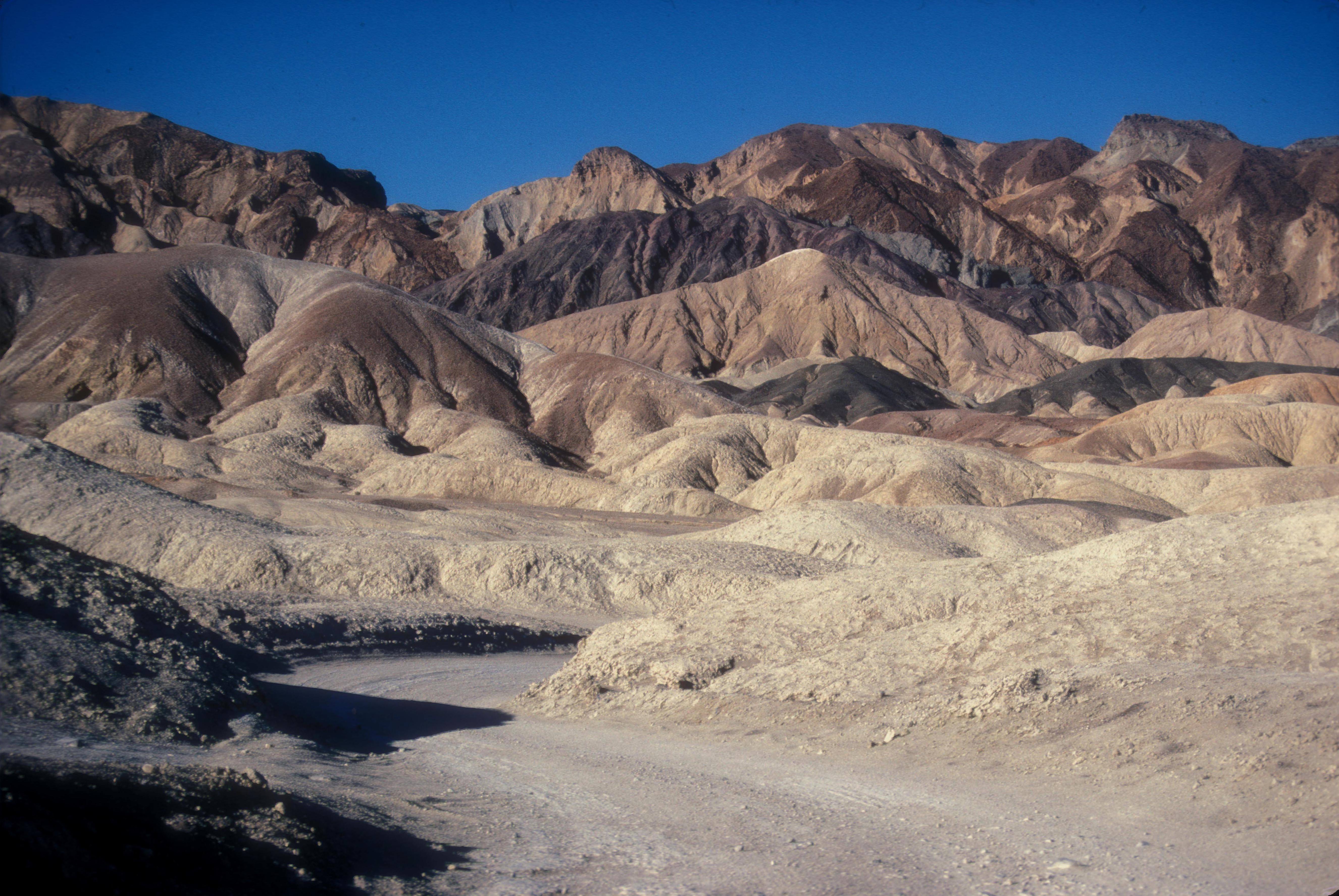 Source: http://commons.wikimedia.org/wiki/File:TWENTY_MULE_TEAM_CANYON_ROAD,_DEATH_VALLEY,_CA.jpg