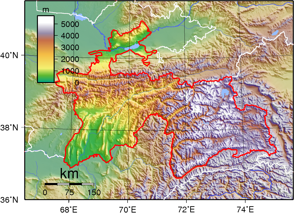 Image:Tajikistan Topography