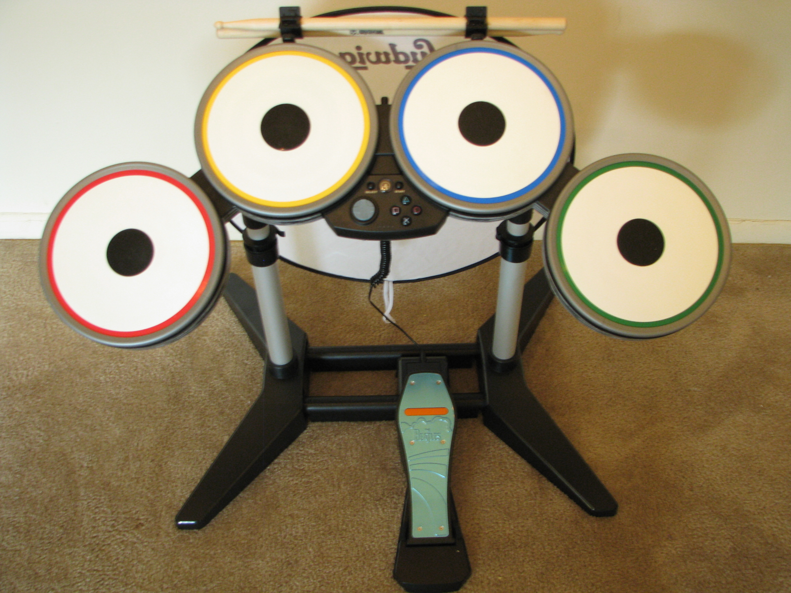 Group of Band Drums Beatles Guitar