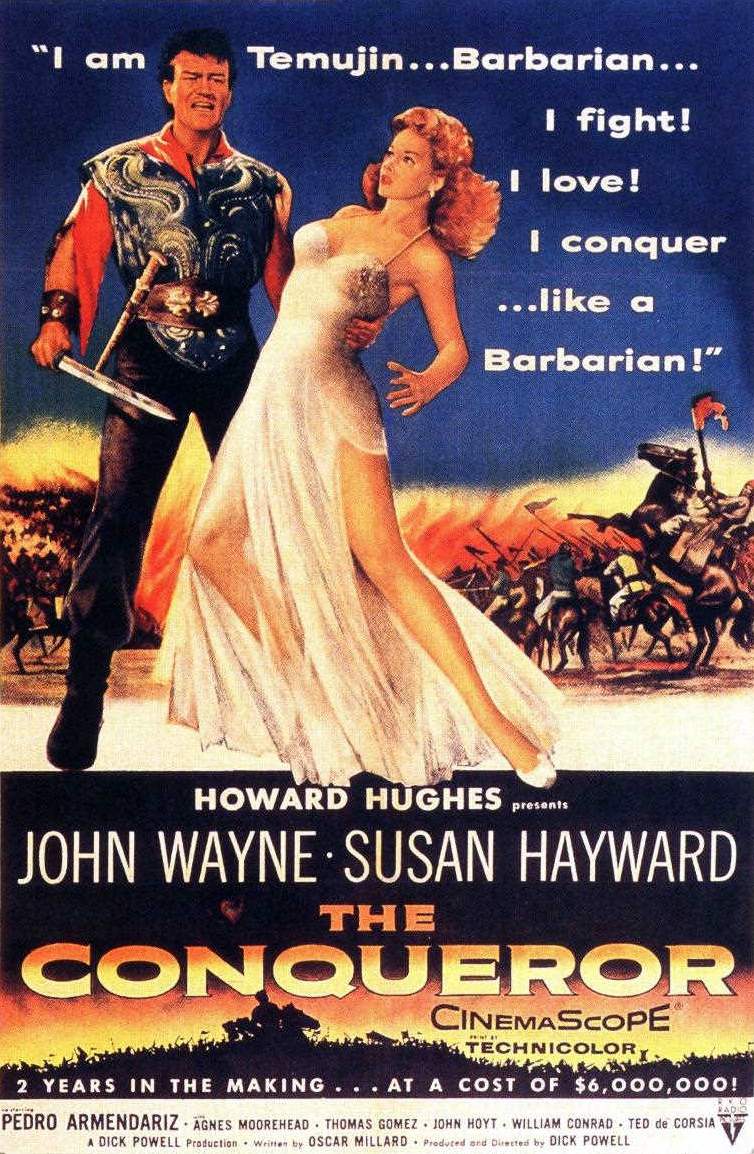 Description de l'image  The Conqueror (1956) film poster.jpg.