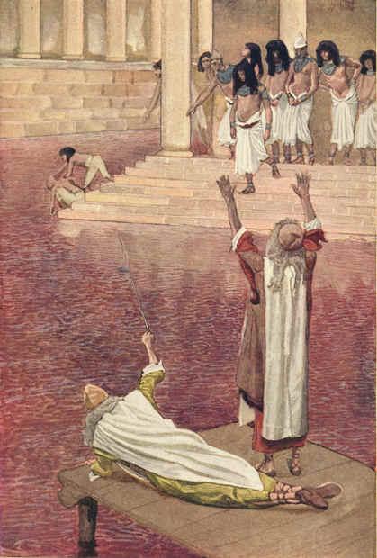 물이 피로 변하다 (제임스 티소 1836~1902)