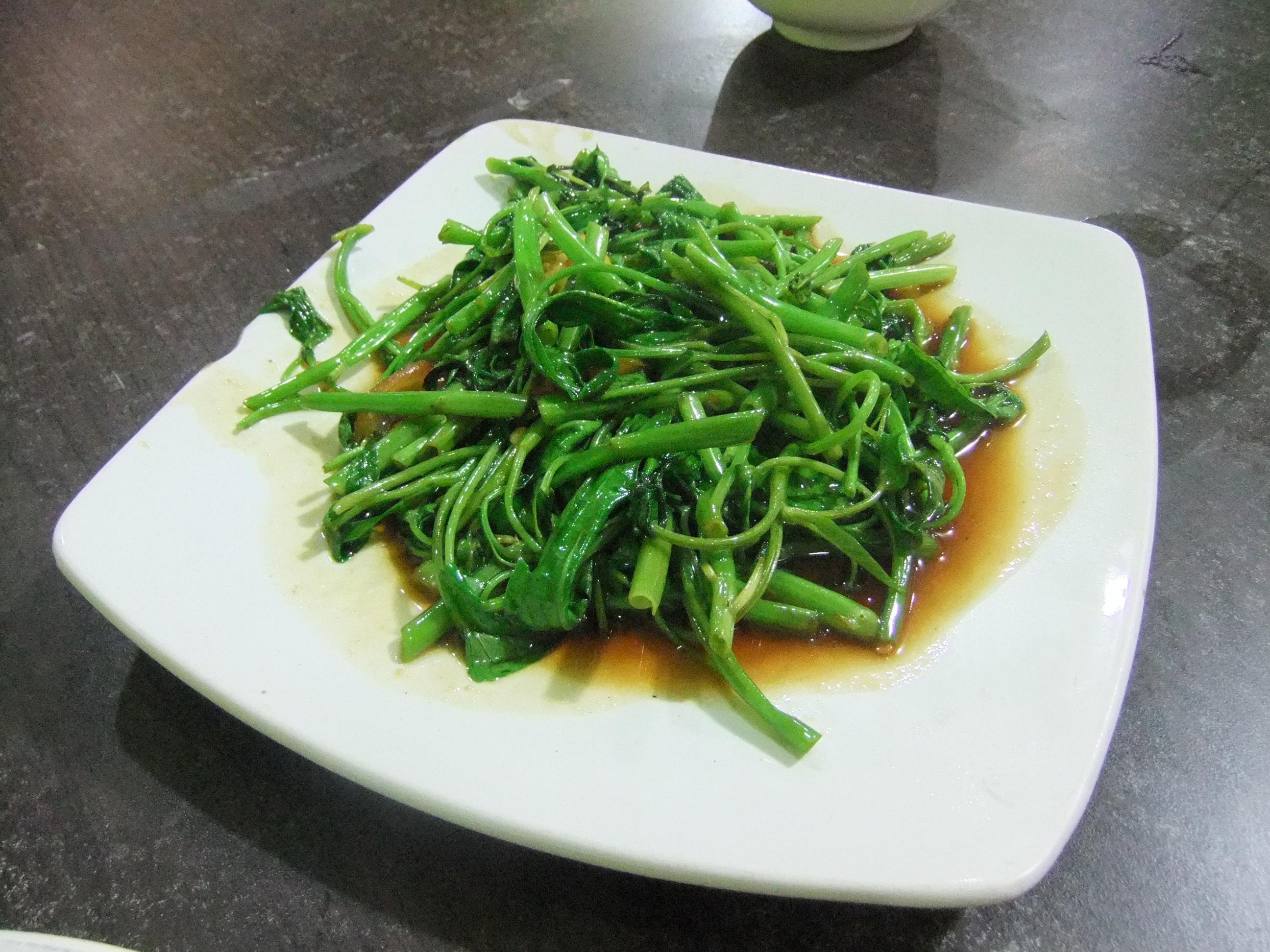 Stir Fried Water Spinach Wikipedia