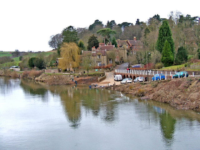 Upper Arley village seen from the river footbridge Photo credit: P L Chadwick