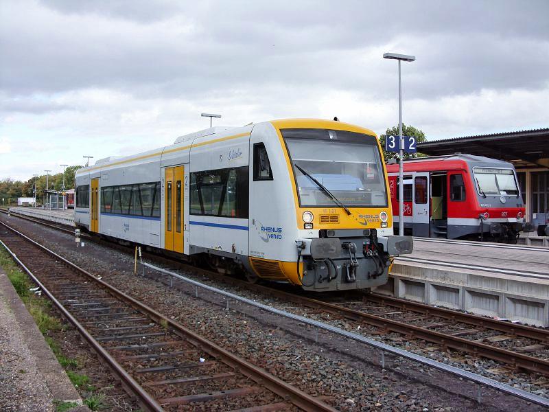 Ein Regio-Shuttle von Rhenus Veniro in Alzey