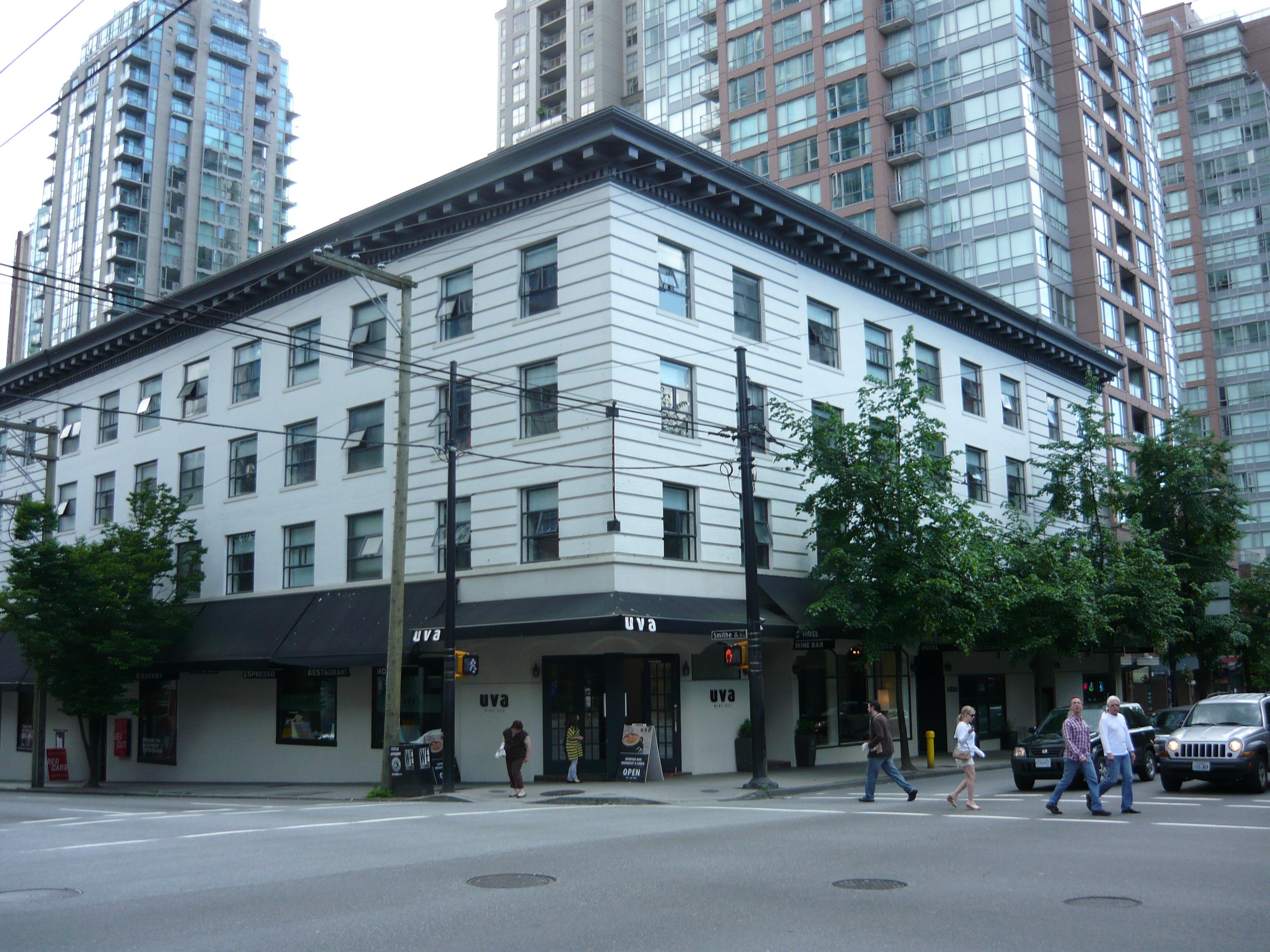 Moda Hotel Vancouver History
