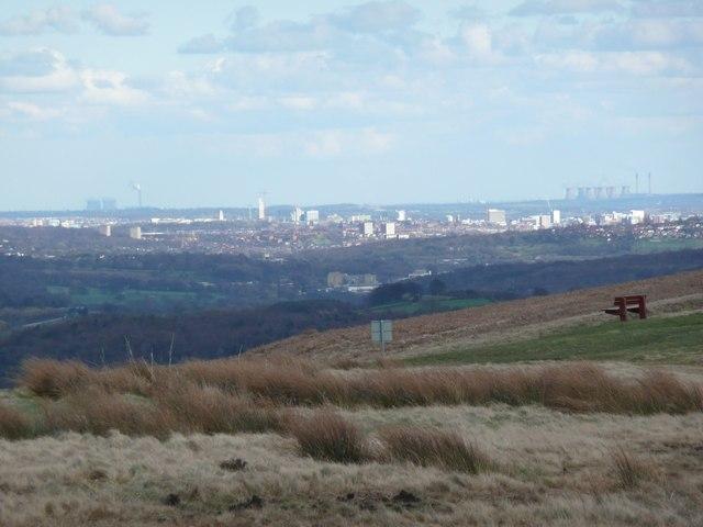 View of Leeds etc, Baildon Moor , Baildon - geograph.org.uk - 761989