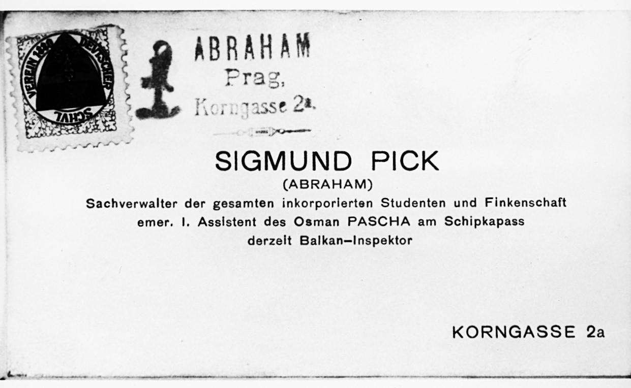 Datei Visitenkarte Sigmund Pick Jpg Wiktionary