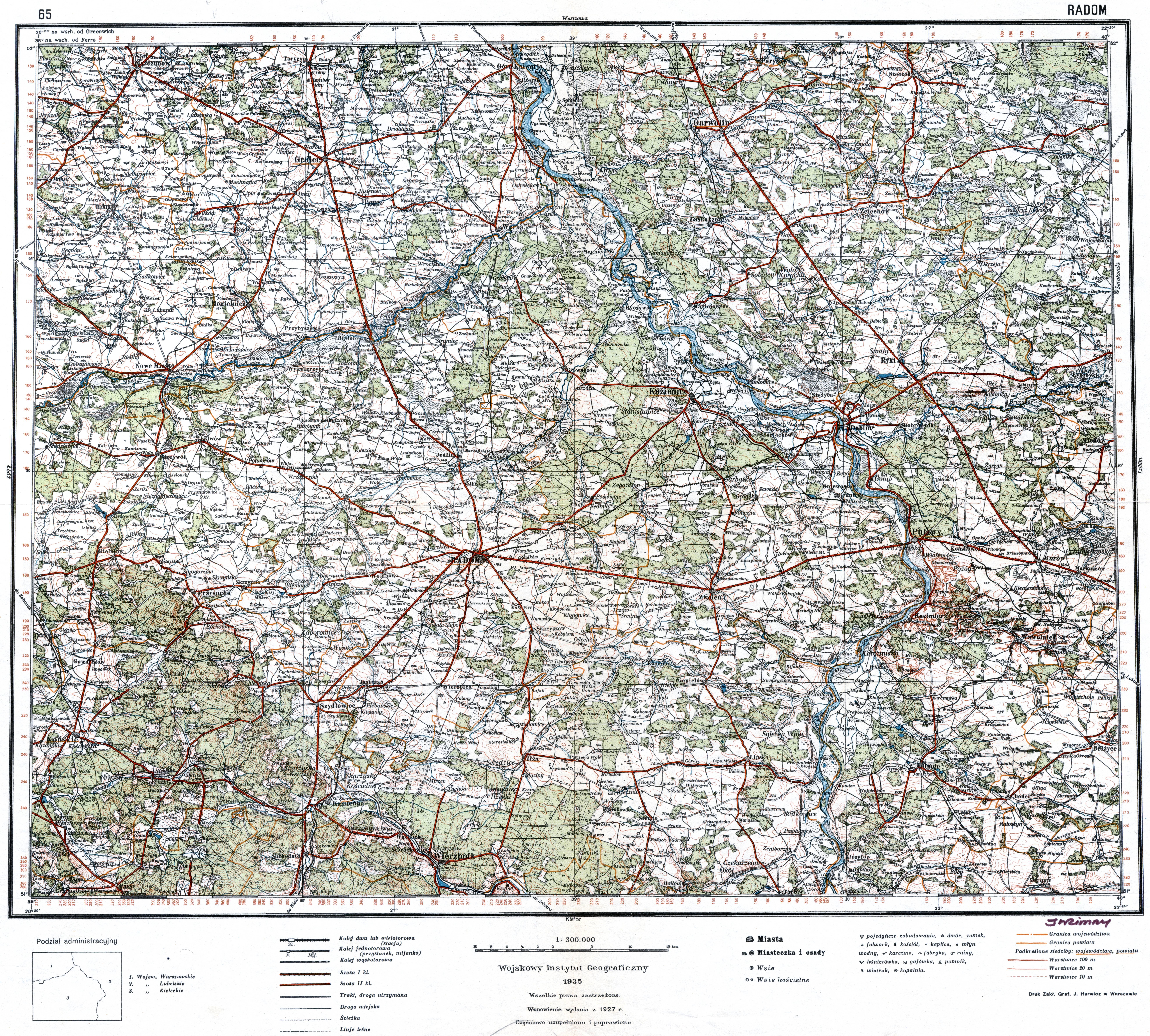 File Wig Mapa Operacyjna Polski 65 Radom 1927 1935 Jpg