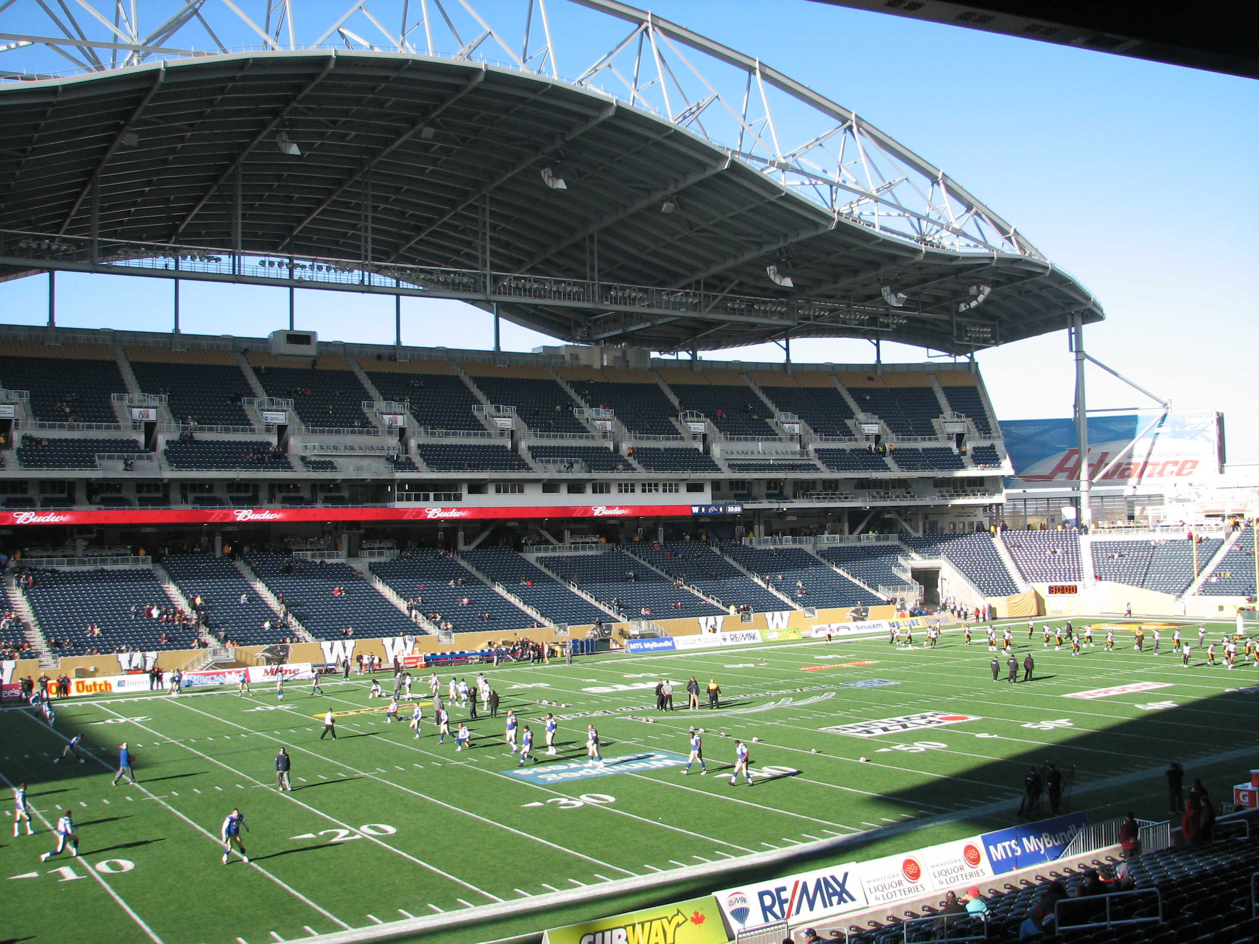 Depiction of Investors Group Field