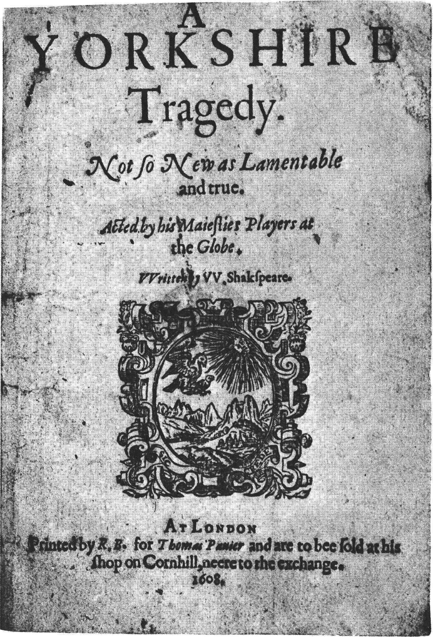 A Yorkshire Tragedy - Wikipedia