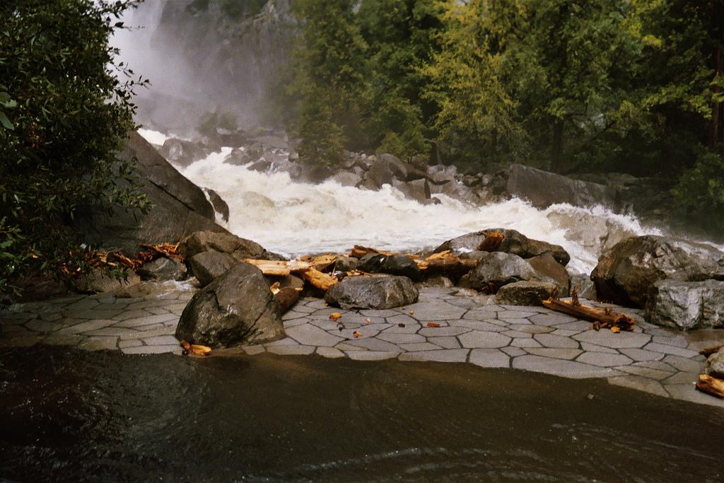 Yosemite Creek Trail Yosemite Creek Flooding Its