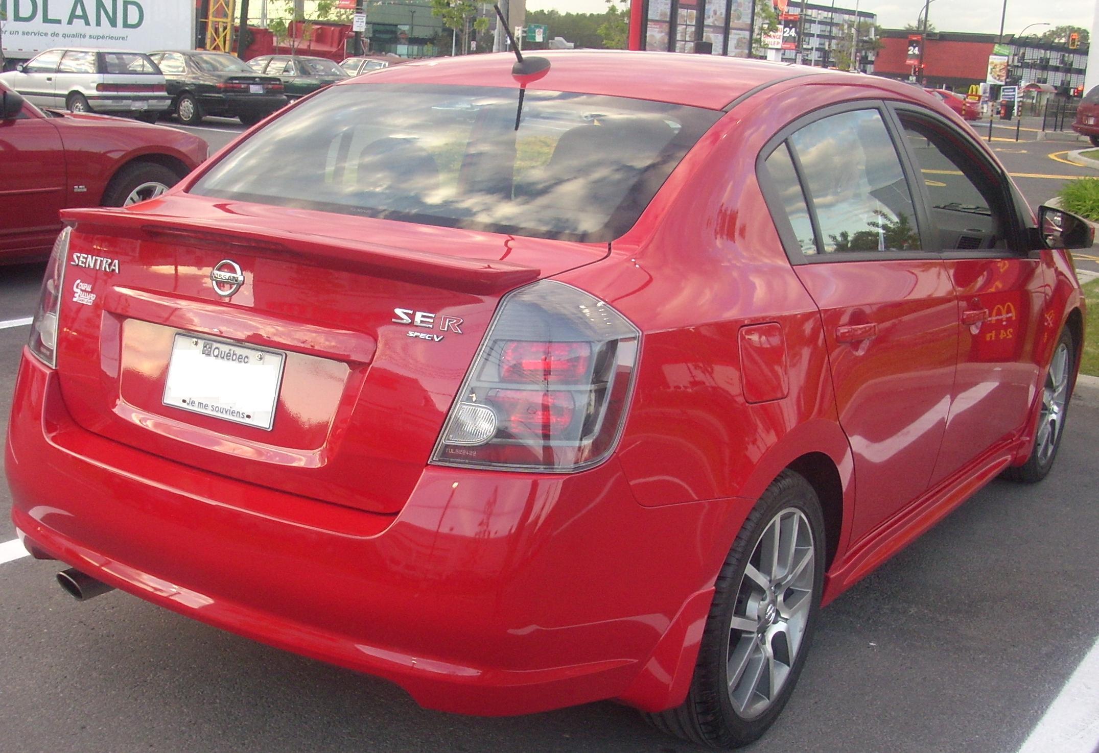 File:u002709 Nissan Sentra SE R Spec V (Rear).