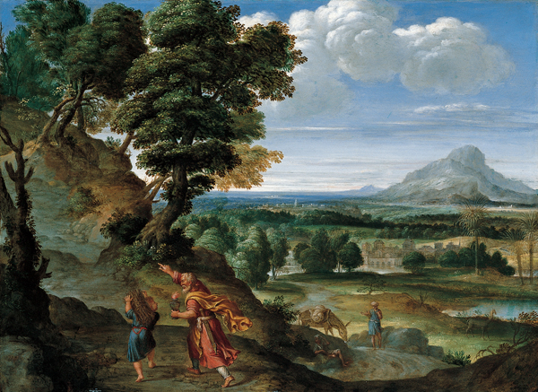 https://upload.wikimedia.org/wikipedia/commons/1/10/%27Abraham_Leading_Isaac_to_Sacrifice%27%2C_oil_on_copper_painting_by_Domenichino.JPG