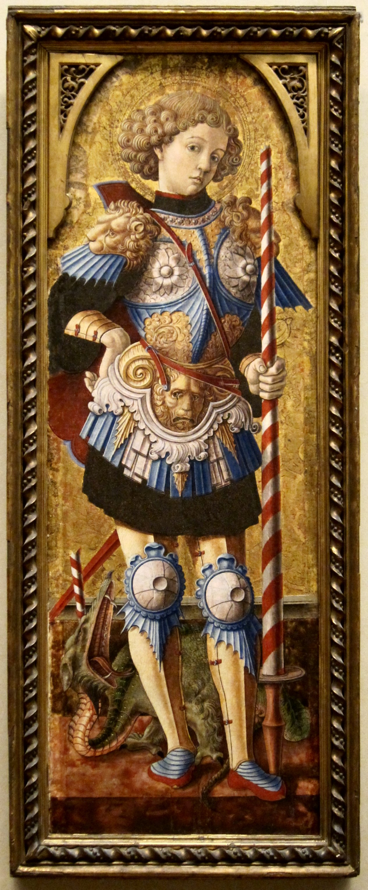 How did saint george get to europe in the dark ages kim for Mural art on wood