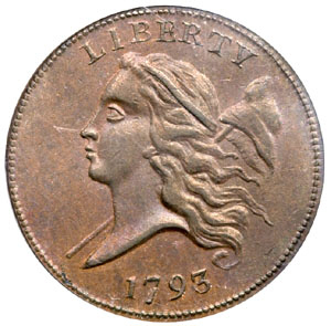 First half cents produced by the United States Mint